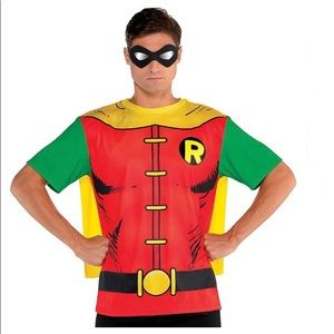 DC Comics Adult Robin T-Shirt with Cape